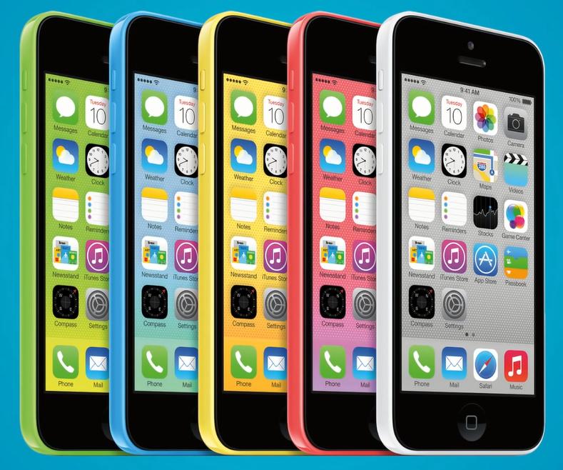 модели разного цвета iPhone 5c