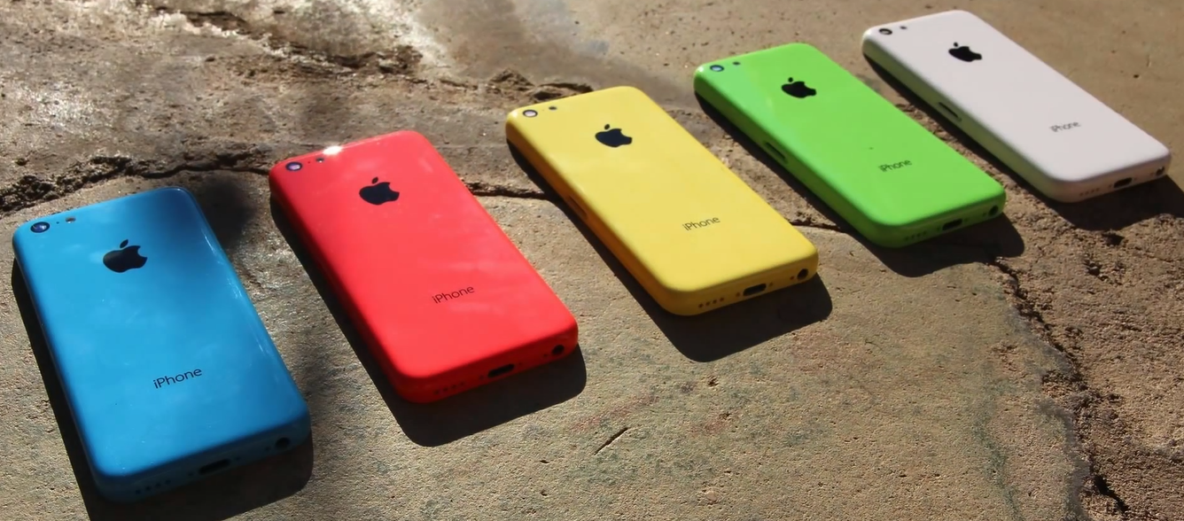 iPhone 5c - white, green, yellow, pink, blue